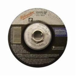 MIL49-94-4515 GRINDING DISC 4-1/2 X 1/4 X 5/8-11;Milwaukee® 49-94-4515 Type 27 Reinforced Grinding Disc, 4-1/2 in Dia x 1/4 in THK, 24 Grit, Aluminum Oxide Abrasive