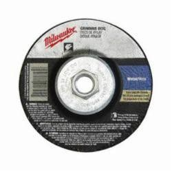 MIL49-94-4585 GRINDING DISC 4-1/2 X 1/4 X 5/8-11;Milwaukee® 49-94-4585 Type 27 Reinforced Grinding Disc, 4-1/2 in Dia x 1/4 in THK, 24 Grit, Zirconia Alumina Abrasive