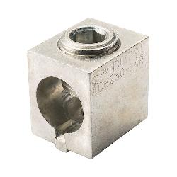 Panduit® ACB250-1AR-Q Anti-Rotation Mechanical Terminal Lug, 6 AWG to 250 kcmil, 1 Bolt Holes, Copper/Aluminum