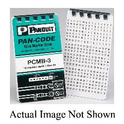 Panduit® PCMB-11 Pre-Printed Wire Marker Book, 1.38 in L x 0.22 in W, Black/White, Vinyl