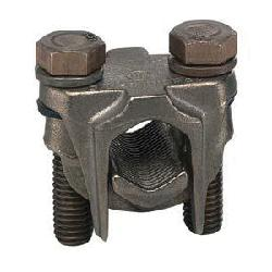Panduit® VT-0-Q Mechanical Two-Bolt Connector, 2 to 1/0 AWG Stranded Stranded Copper Conductor, 0.31 in Bolt, Bronze Casting