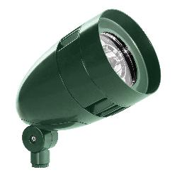 RAB HBLED26VG Floodlight With Flood Reflector, LED Lamp, 27 W Fixture, 120/208/240/277 VAC, Verde Green Housing