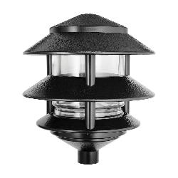 RABLL322B LL322B TIER LIGHT;RAB LL322B 3-Tier HID Landscape Lawn Light,) A-19 Incandescent Lamp, 120 VAC, Black Housing