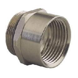 Remke Tuff-Seal™ RAM-25M50F ISO Metric Threaded Adapter, 1/2 in NPT Interior Thread, M25x1.5 Exterior Thread, -40 to 250 deg F Operating, Aluminum, Nickel Plated