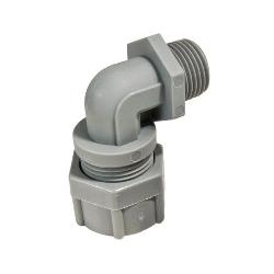 """RMKRSP-9106 REMKE 1/2"""" 90 DEGREE CORD CONNECTOR .312-.375 BLACK;Remke Tuff-Seal™ RSP-9106 90 deg Non-Metallic Form Size 2 Cord Grip Connector, 1/2 in Trade, 0.25 to 0.312 in Cable Openings, Nylon"""