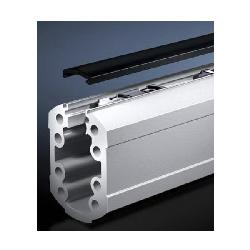 Rittal 6206110 Open Support Section, 39 in L, For Use With Model CP 60 Support Arm System, Extruded Aluminum, Pale Gray