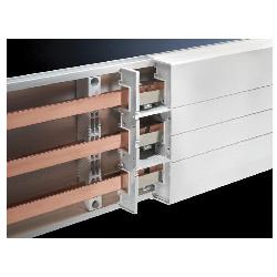 RIT9342130 RILINE PLS1600 BASETRAY-1100MM 2 EA;Rittal 9342130 Base Tray, 1600 A, 3-Pole, 3-Phase, For Use With For RiLine 60 with PLS 1600 Busbar System, Thermally Modified Hard PVC, Pale Gray
