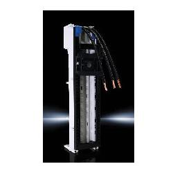 RIT9340370 RILINE OM ADAPTER - 25A 45MM 1 DIN SUPPORT FRAME BLOCK;Rittal 9340370 OM Adapter With Connection Cables, 690 VAC, 25 A, 3-Pole, 3-Phase, 105 deg C Operating Temperature, 12 AWG Wire Size, 60 mm Center-to-Center Spacing, 1-Number of Support Rails, Polyamide (PA 6.6), Pale Gray