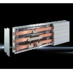 RIT9342050 RILINE PLS1600 SUPPORT-3-POLE UL VERSION;Rittal 9342050 Busbar Support PLS, 1000 VAC, 1500 VDC, 3-Pole, 3-Phase, 60 mm Centre-to-Centre Spacing, For Use With Type PLS 1600 Busbar, Polyamide, Pale Gray