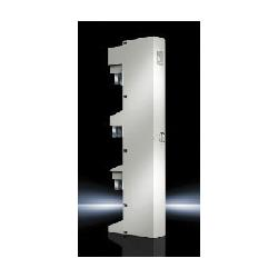RIT9342210 RILINE CONNECTION ADAPTER-63A OUTLET BOTTOM;Rittal 9342210 Connection Adapter, 690 VAC, 63 A, 3-Pole, 3-Phase, Compact Enclosure, Cable Outlet Bottom, 2.5 to 10 sq-mm Wire Size, For Use With 5/10 mm Cross Section H Busbar, 60 mm Center-to-Center Spacing Bus System, ABS, Pale Gray