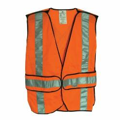 Scotchlite™ 078371-94625 94625-80030T Construction Safety Vest, Universal, Hi-Viz Orange, Reflective Clothing, Hook and Loop Closure, 2 Pockets, ANSI Class: Class 2, Specifications Met: ANSI/ISEA 107-2010 Class 2, FHWA