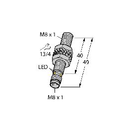 TUR4602150 (S4602150) BI2-EG08-AN6X-V1131;Turck BI2-EG08-AN6X-V1131 Inductive Sensor With Increased Switching Distance, 10 to 30 VDC, NPN Output, 1NO