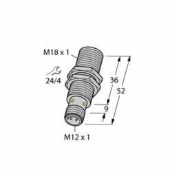 TUR1634816 (M1634816) BI8U-EM18WD-AP6X-H1141 SENSOR;Turck BI8U-EM18WD-AP6X-H1141 Inductive Sensor, 10/30 VDC, PNP Output, 1NO