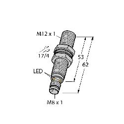 TUR4670250 (T4670250) BI4-G12K-AP6X;Turck BI4-G12K-AP6X Inductive Sensor With Increased Switching Distance, 10 to 30 VDC, NPN Output, 1NO