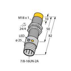 TUR4281413 (M4281413) NI12U-G18-ADZ30X2-B3331;Turck NI12U-G18-ADZ30X2-B3331 Inductive Sensor, 1NO Contact, 20 to 250 VAC/10 to 300 VDC