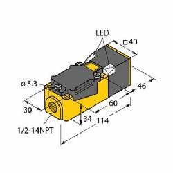 TUR15014 NI35-CP40-VP4X2 INDUCTIVE PROX;Turck NI35-CP40-VP4X2 Inductive Sensor, PNP Output, 1NO-1NC Contact, 10/65 VDC