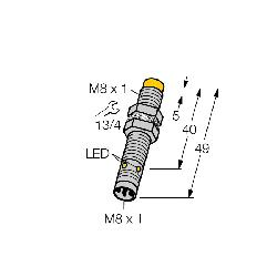 TUR4600620 (S4600620) NI 4U-EG08-AP6X-V1131;Turck NI4U-EG08-AP6X-V1131 Inductive Sensor, PNP Output, 1NO Contact, 10 to 30 VDC