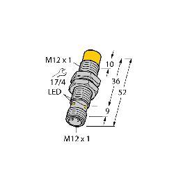 TUR1644150 (M1644150) NI8U-M12-AN6X-H1141 INDUCTIVE PROX. SENSOR;Turck uprox® NI8U-M12-AN6X-H1141 Inductive Sensor, NPN Output, 1NO Contact, 10 to 30 VDC