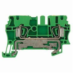 Weidmuller 1608640000 PE Terminal Block, 800 VAC, 300 A, 12 to 30 AWG Wire, Snap-On Mount