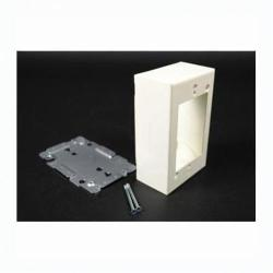 WIRV2048 WM V2048 SW/RCPT BOX;Wiremold® V2048 Plugmold® 2000 Switch Outlet Box With Quick Click, Steel, 1 Gangs, 1 Outlets