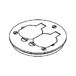 WIREMOLD 895TCAL ROUND CARPET FLOOR-BOX DUPLEX COVER PLATE BRUSHED ALUMINUM
