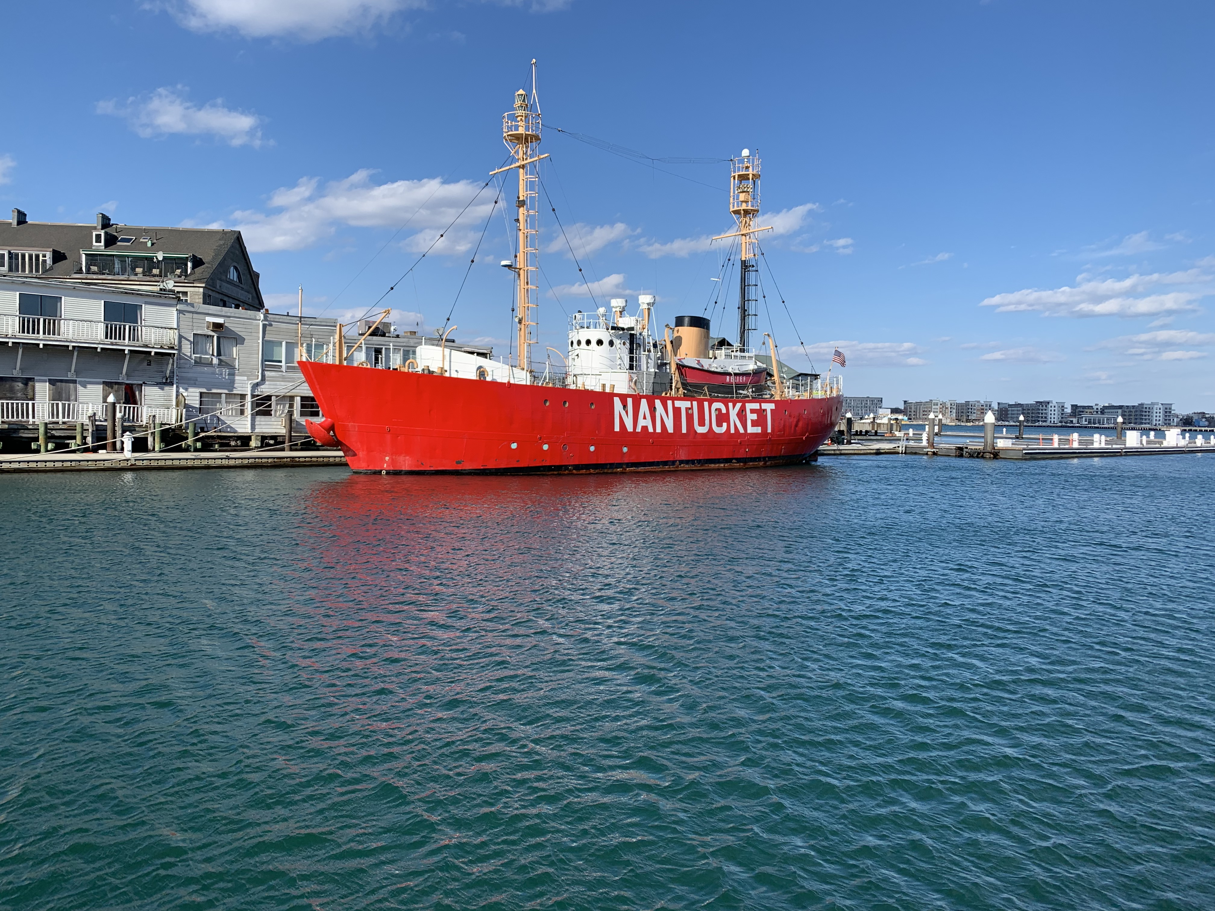 Nantucket Lightship Docked at Long Wharf