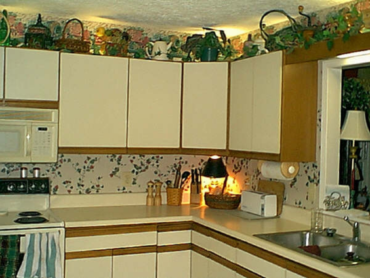Artificial Plants For Above Kitchen Cabinets