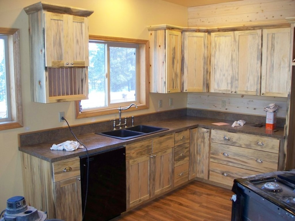 Clear Pine Kitchen Cabinets