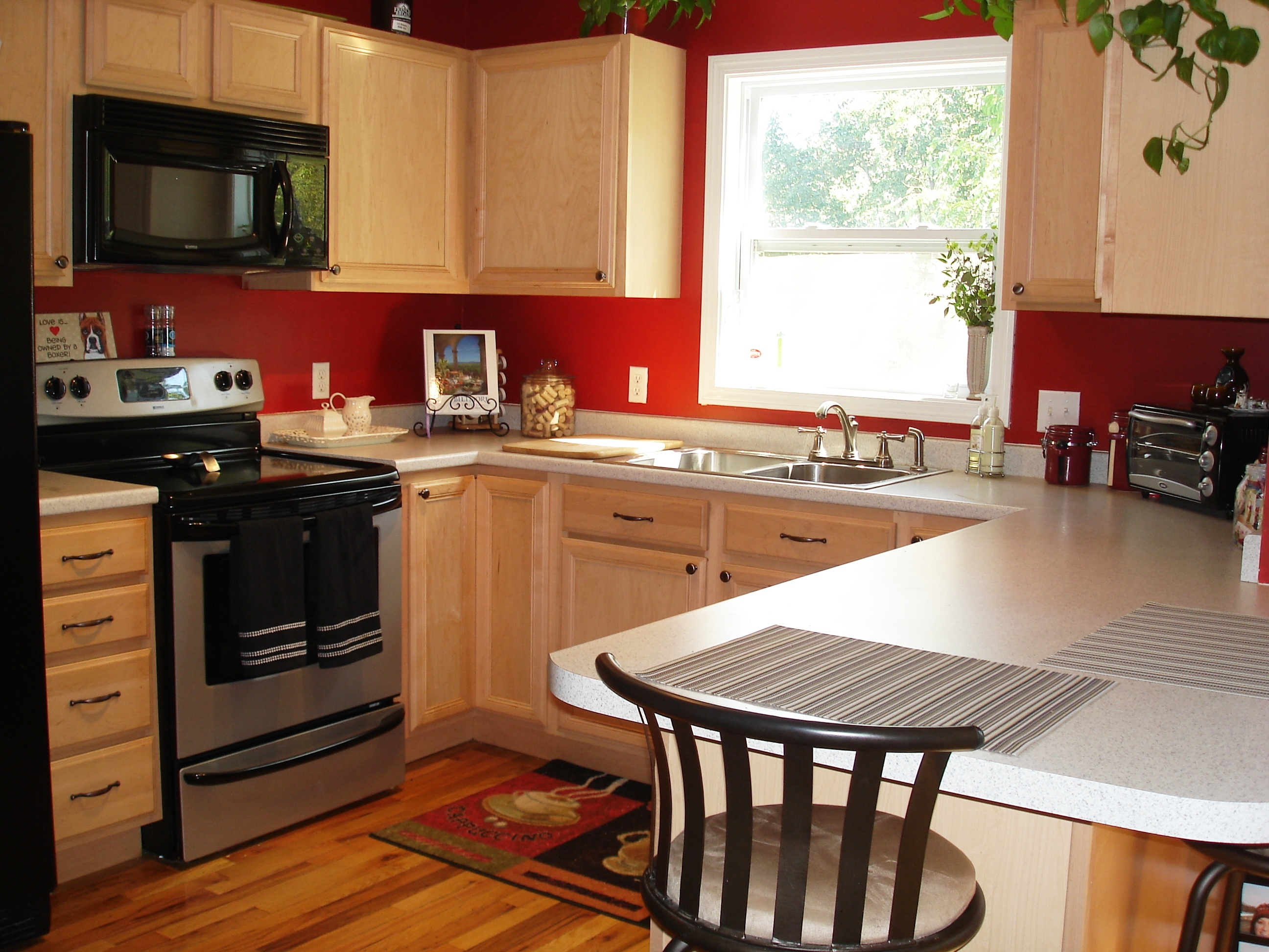 Cranberry Colored Kitchen Cabinets
