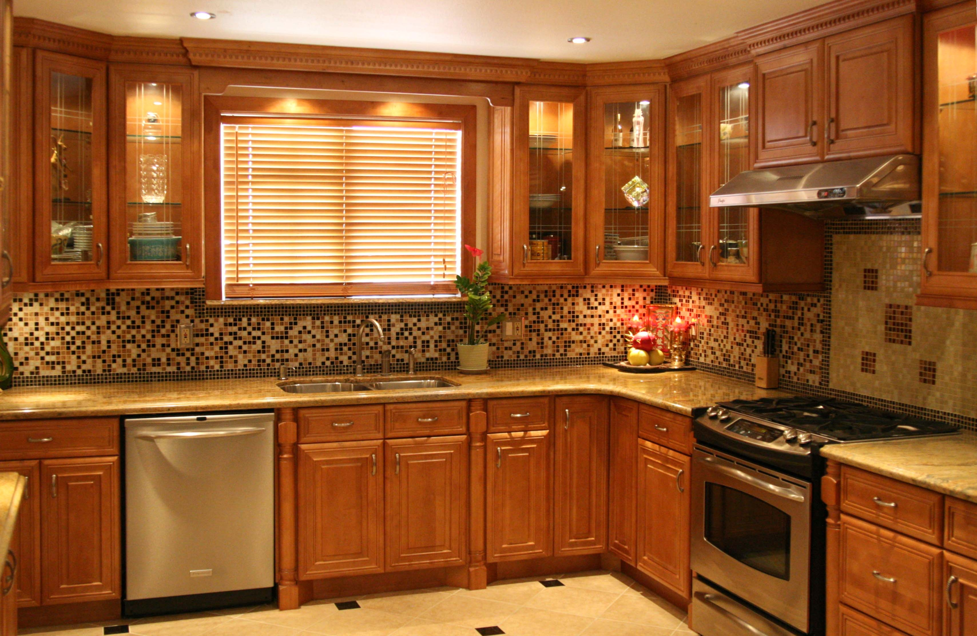 Images Of Honey Colored Kitchen Cabinets
