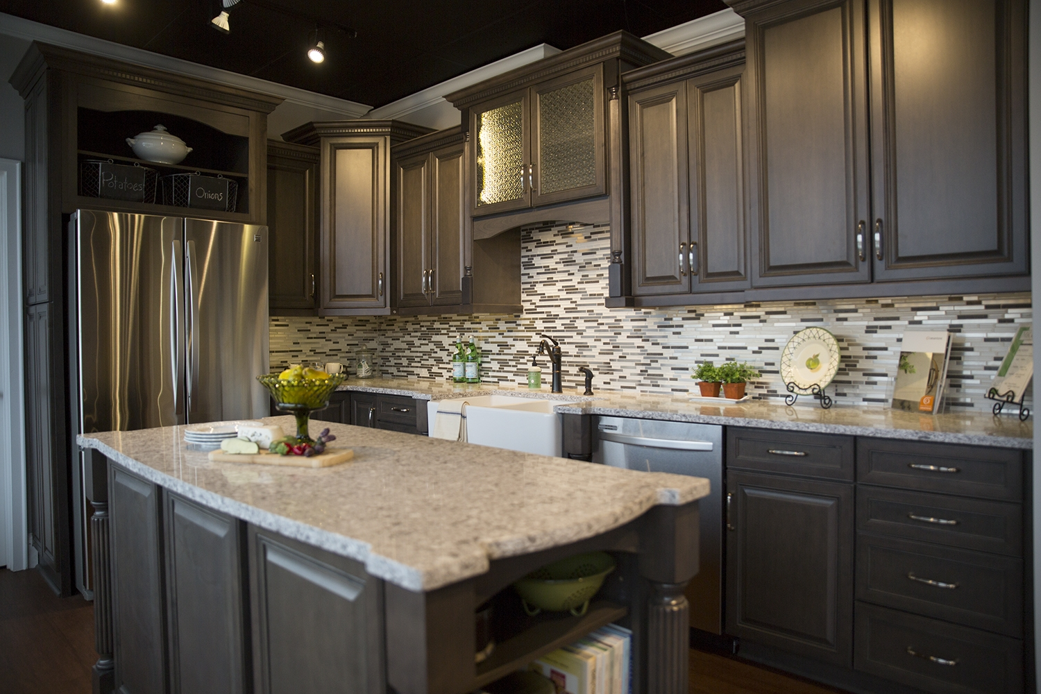 Permalink to Kitchen Cabinets Countertops Pictures
