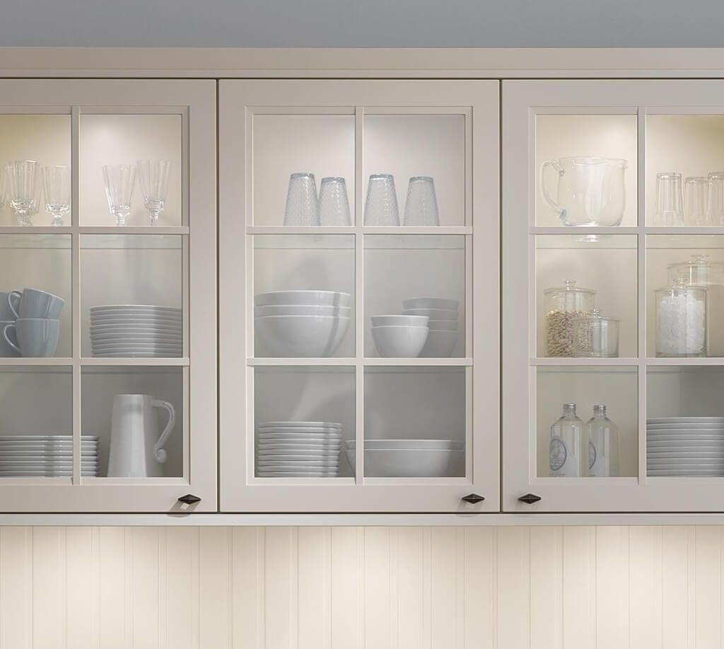Kitchen Cabinets With Glass Panes