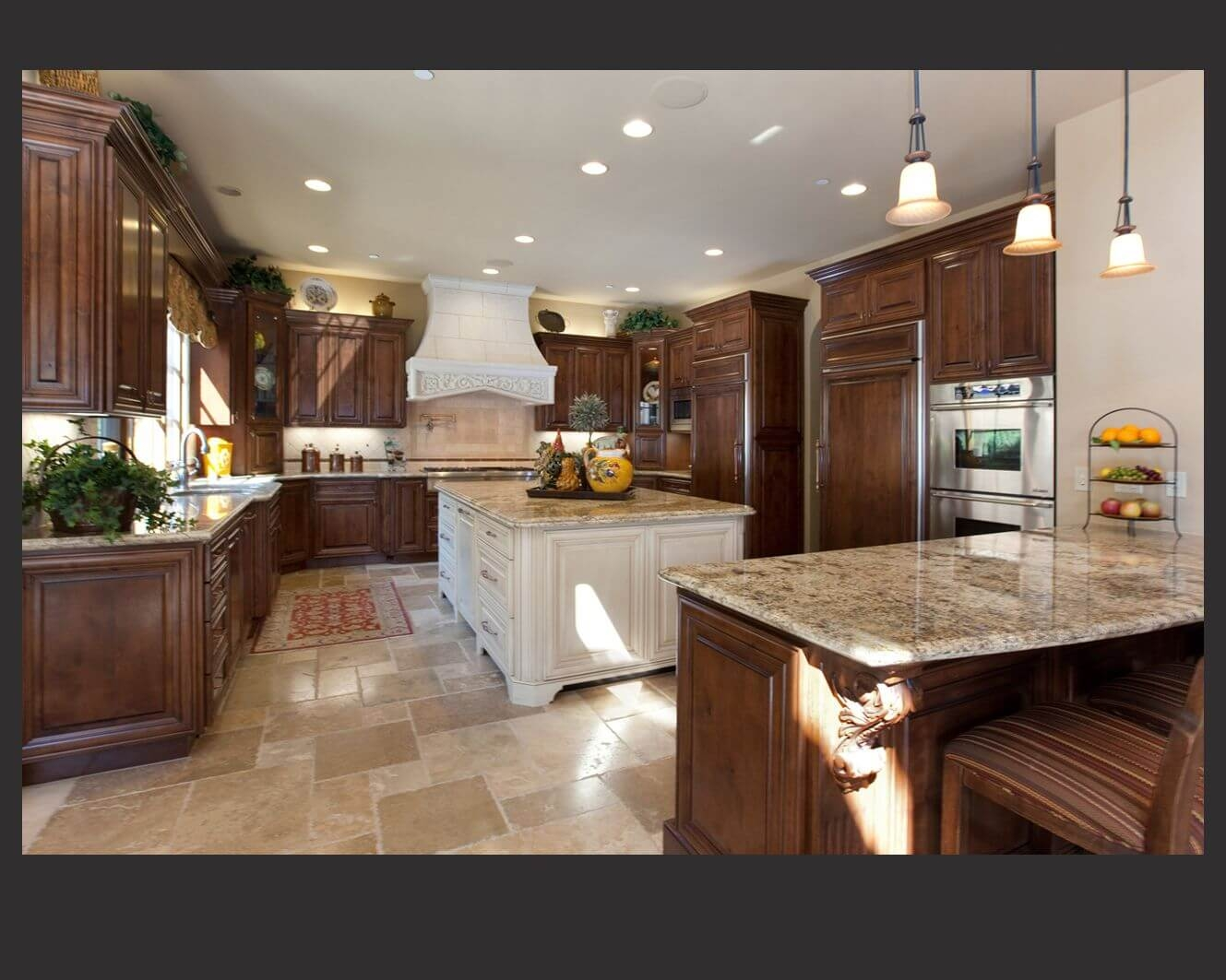 Kitchen Cabinets With Marble Countertops
