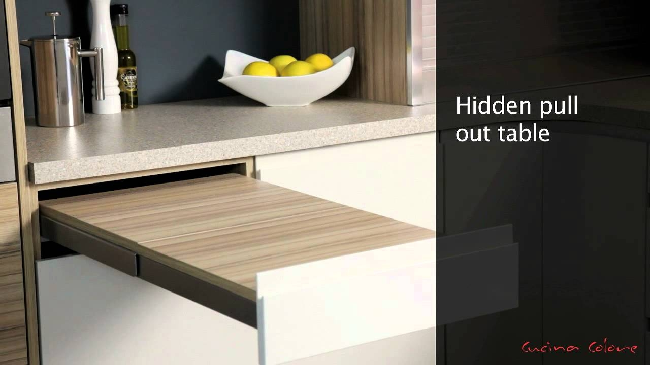 Kitchen Pull Out Table Cabinet
