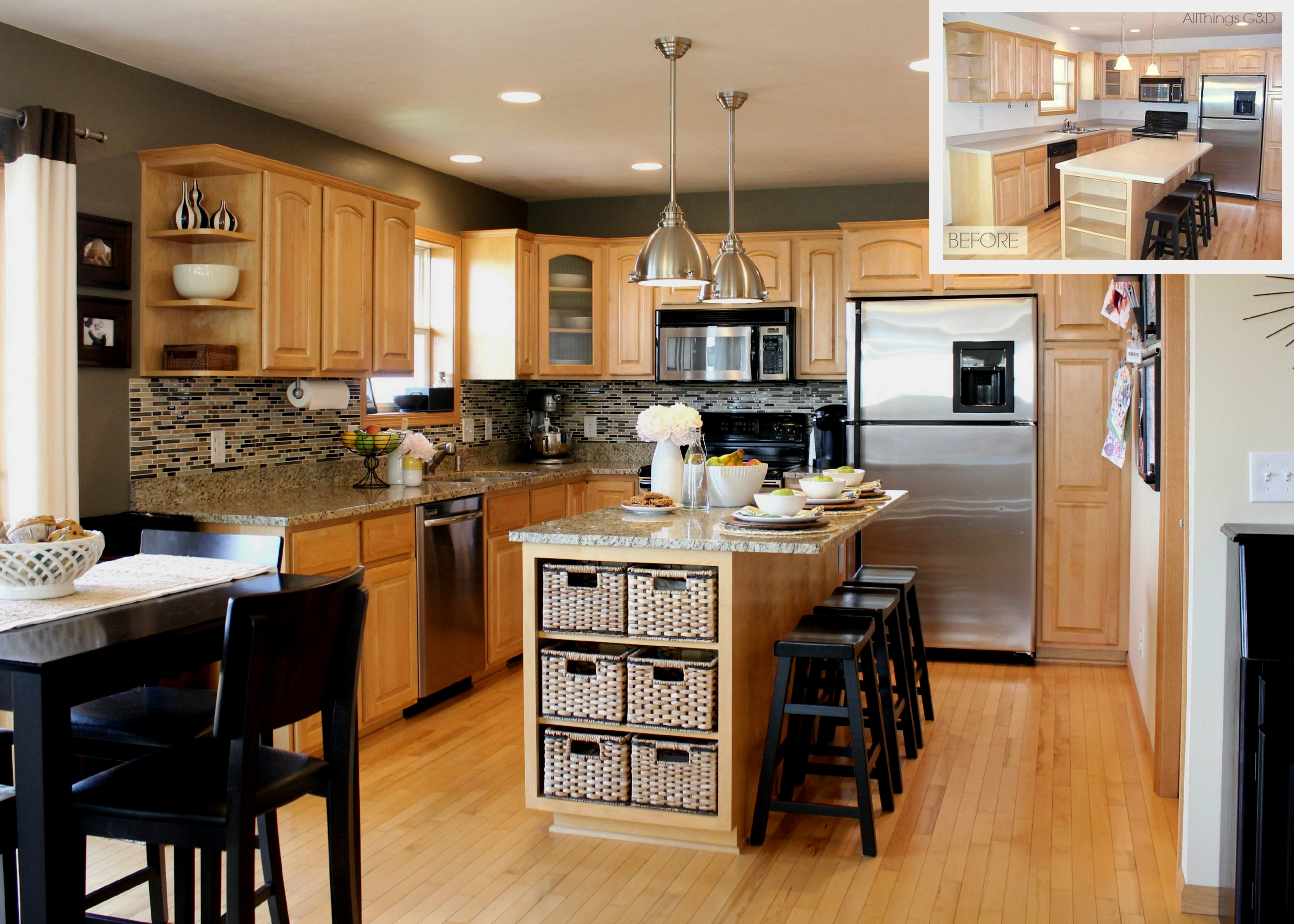Kitchen Wall Color With Light Cabinets