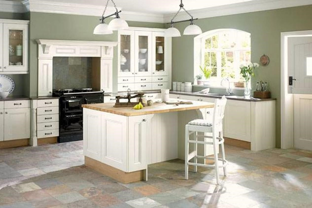 Light Green Kitchen Walls With White Cabinets
