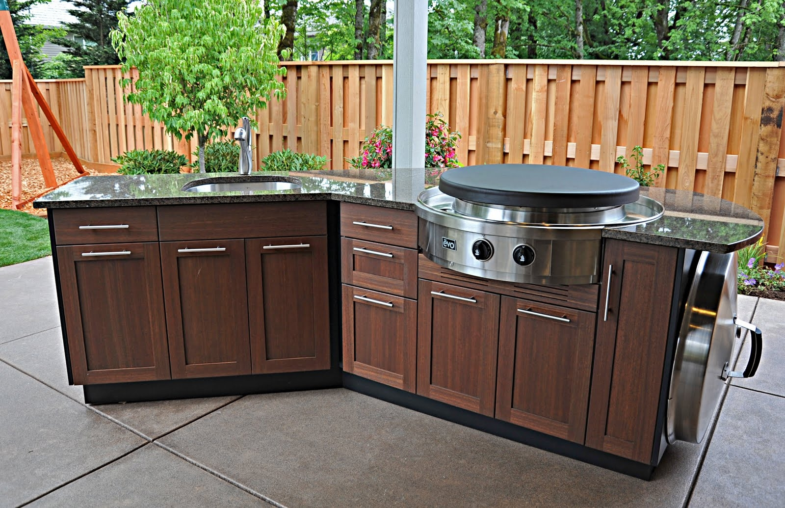 Marine Grade Polymer Outdoor Kitchen Cabinets