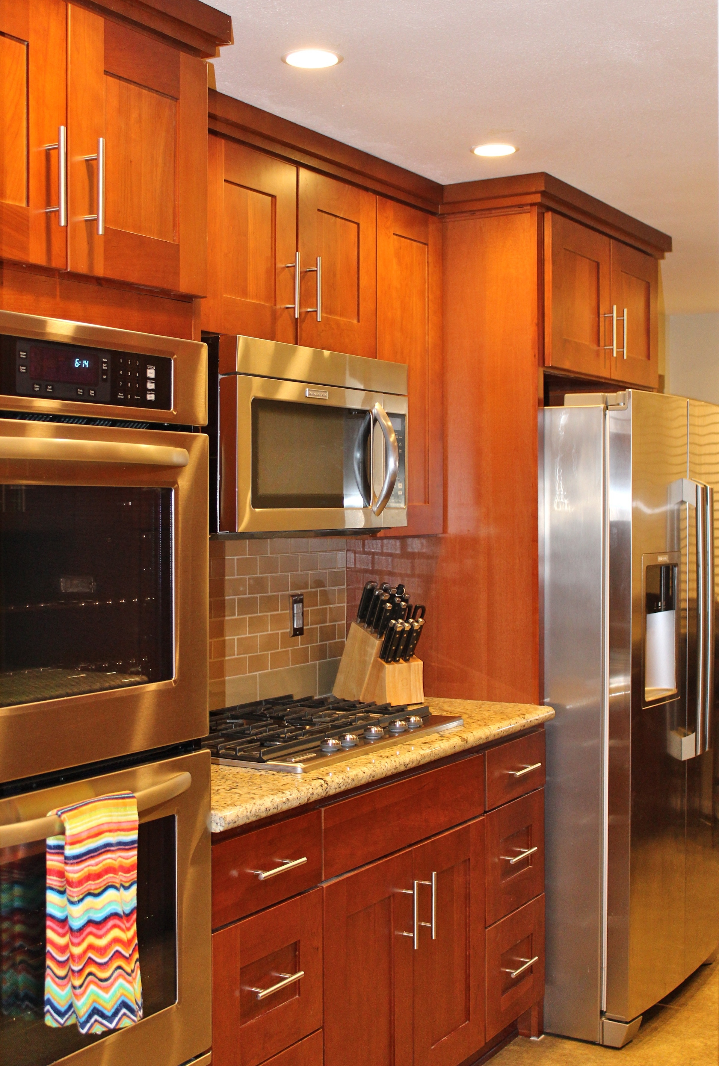 Natural Cherry Kitchen Cabinets