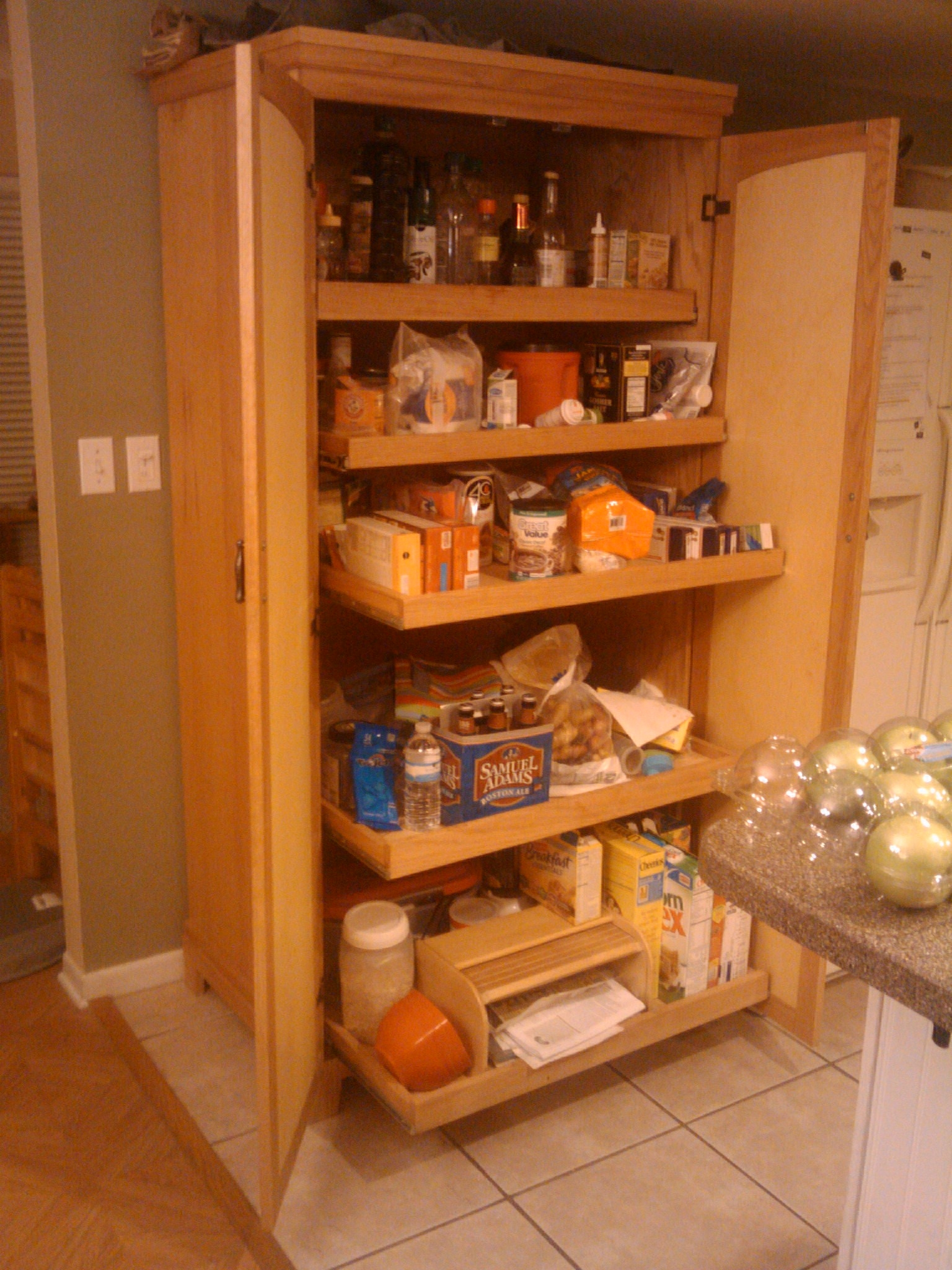 Oak Pantry Cabinet For Kitchen