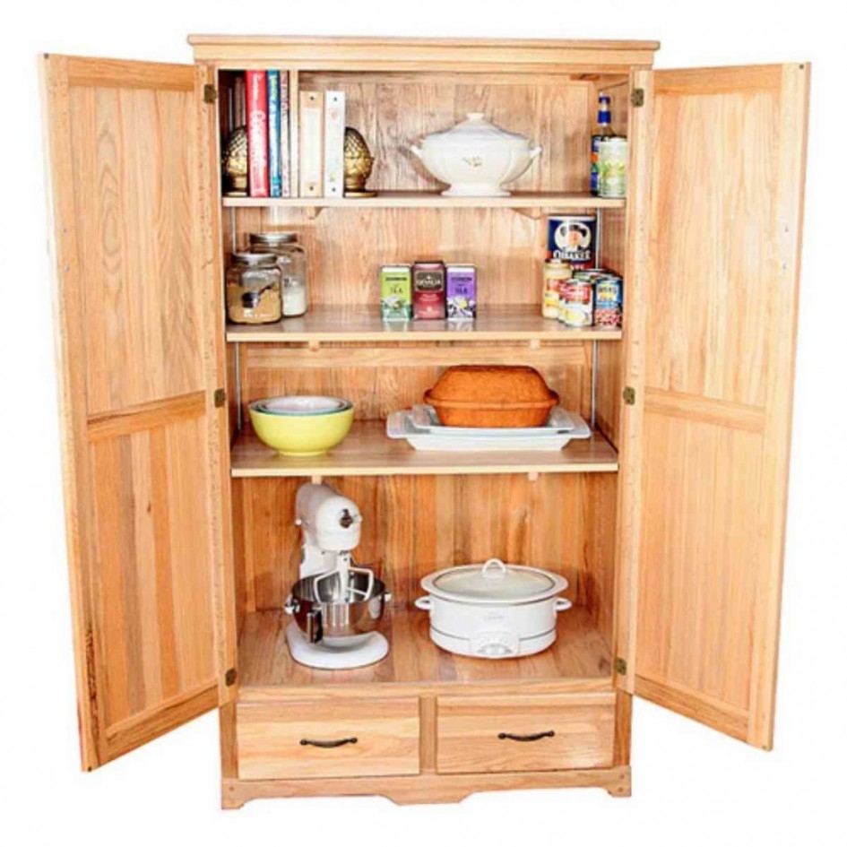 Oak Storage Cabinet Kitchen