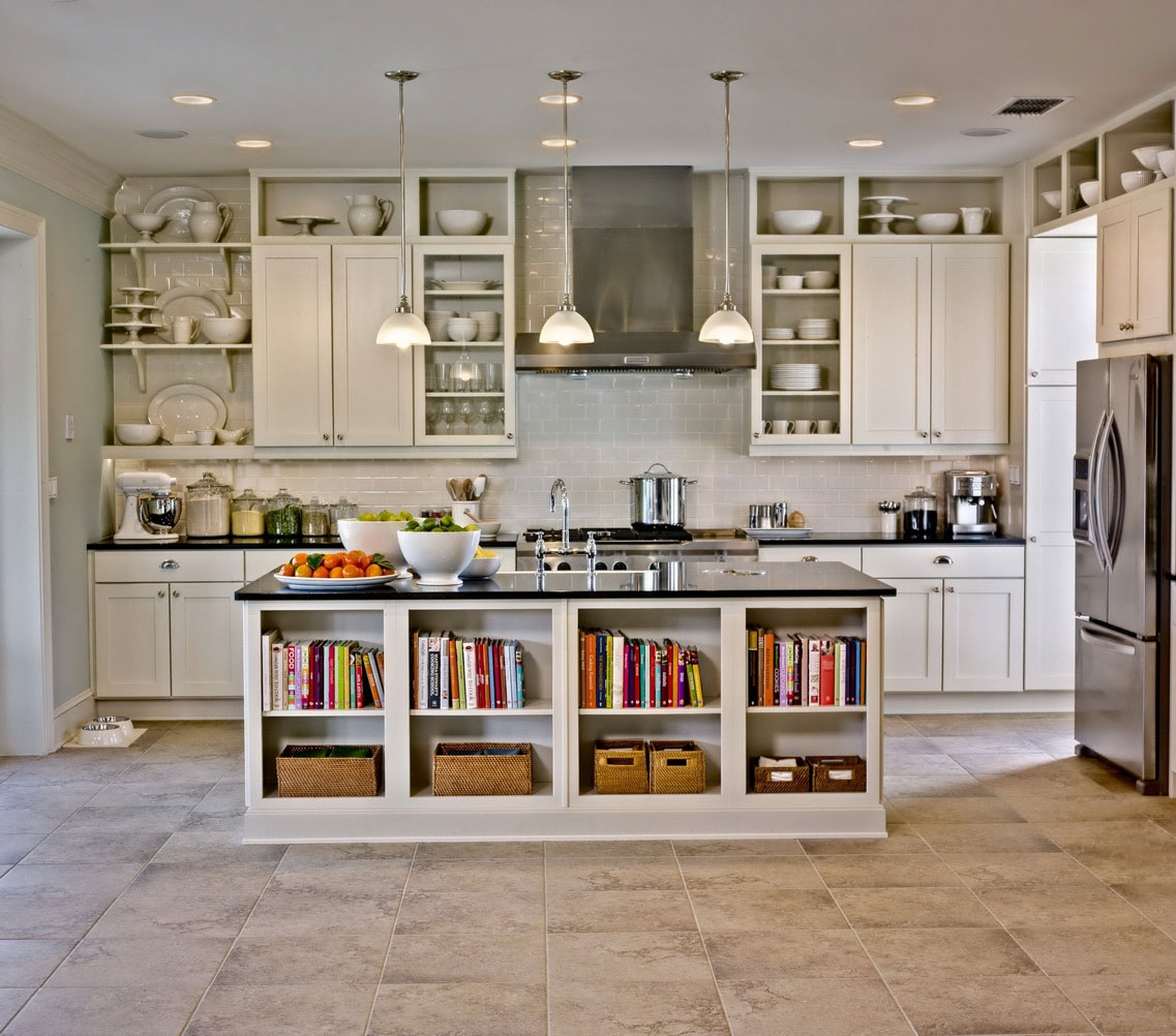 Rustic Kitchen Designs With White Cabinets