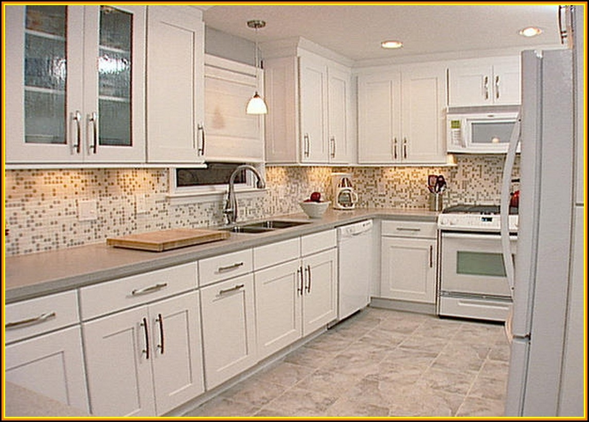 Permalink to White Kitchen Cabinets And Backsplash Ideas