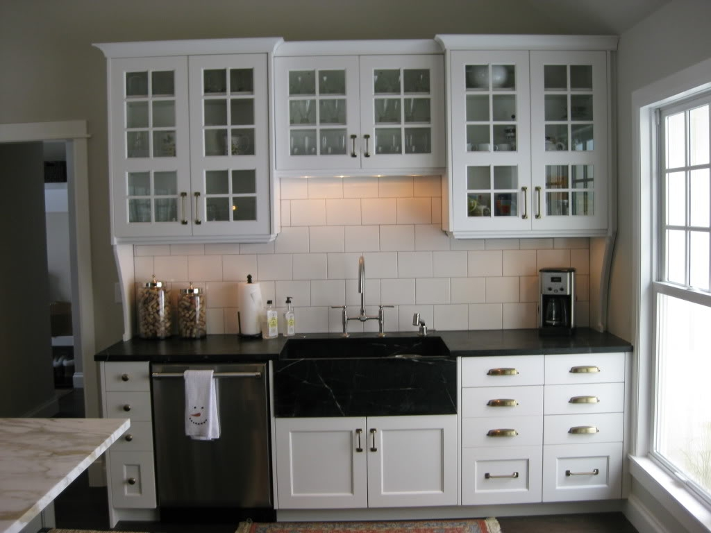 White Kitchen Cabinets With Cup Pulls