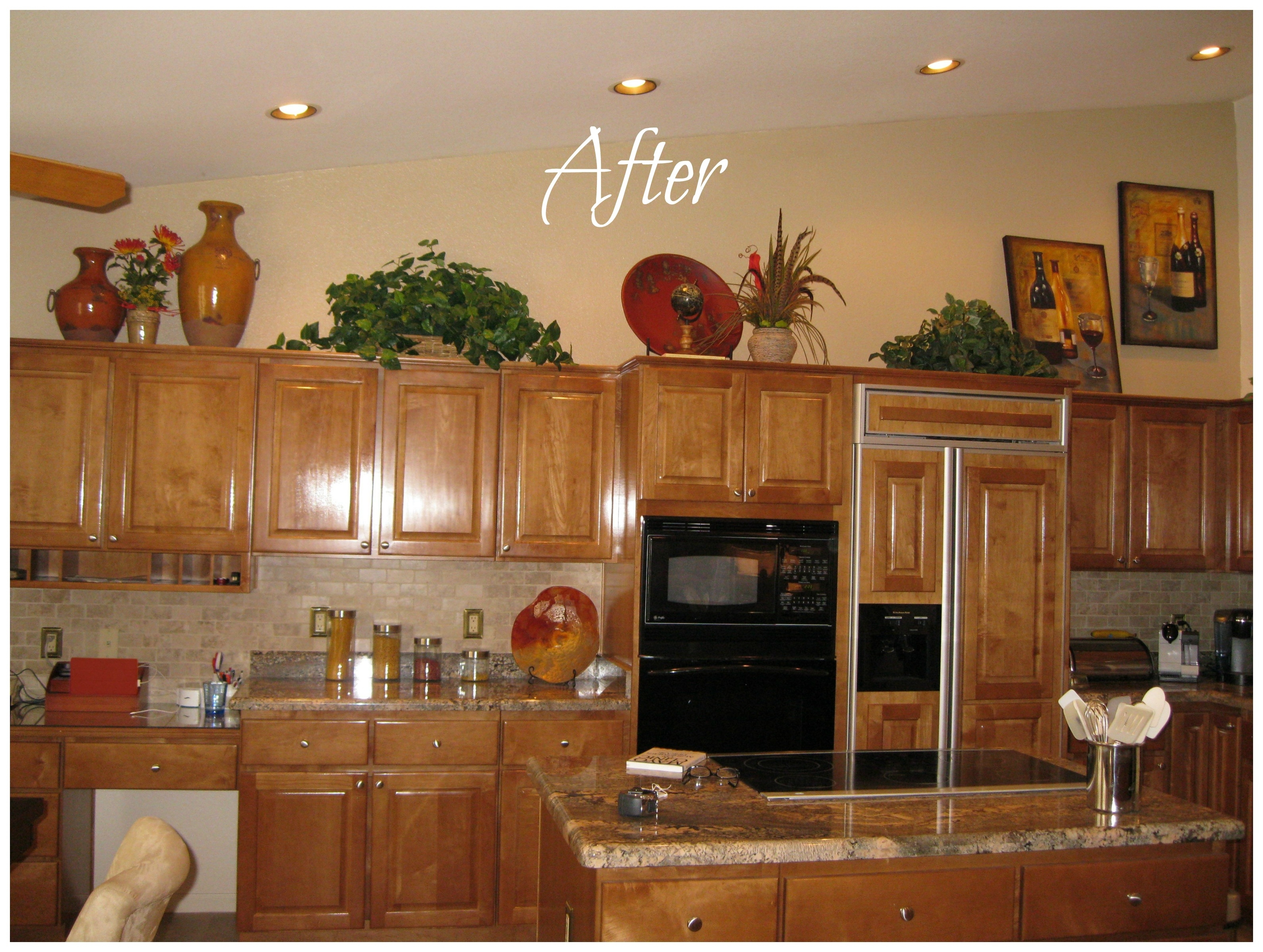 Above Kitchen Cabinet Decorating Idea Pictures