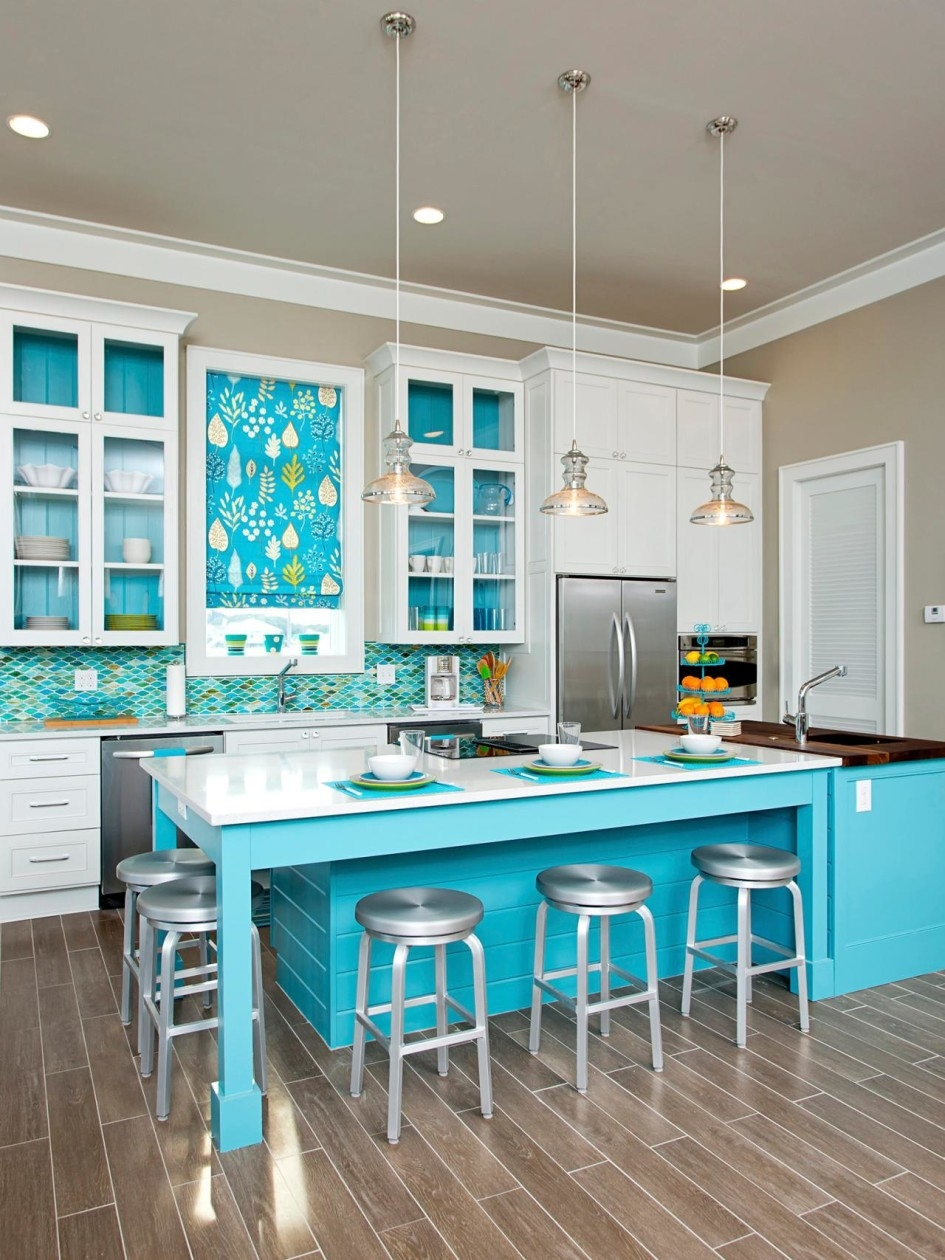 Beach Themed Kitchen Cabinets