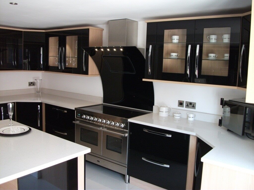Black And Chrome Kitchen Cabinet Handles
