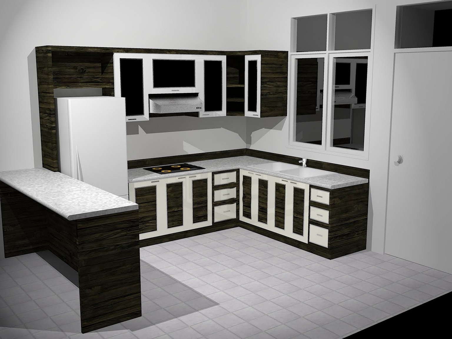 Black And White Kitchen Cabinet Ideas