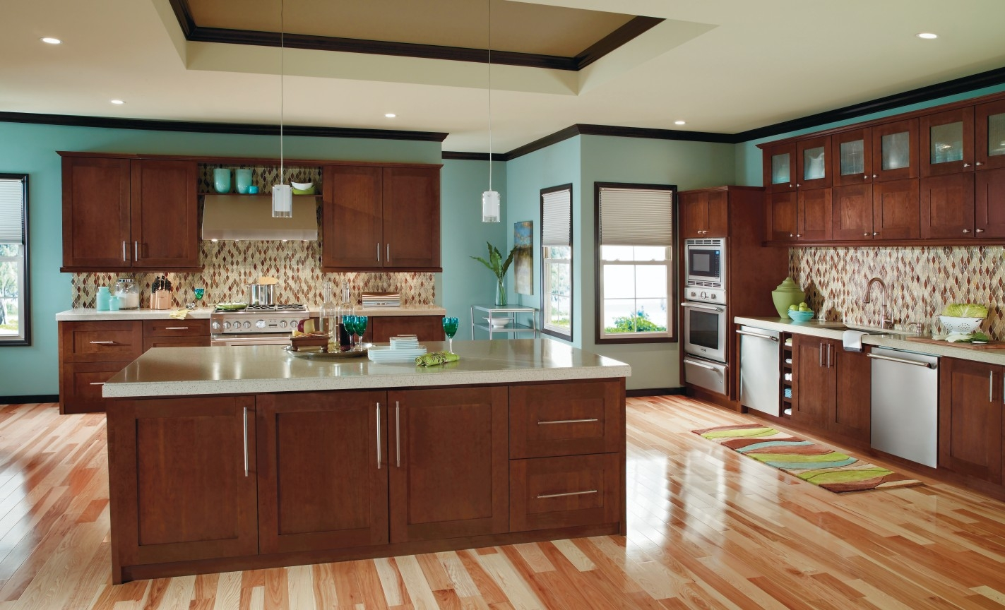 Permalink to Cherry Kitchen Cabinets Wood Floors