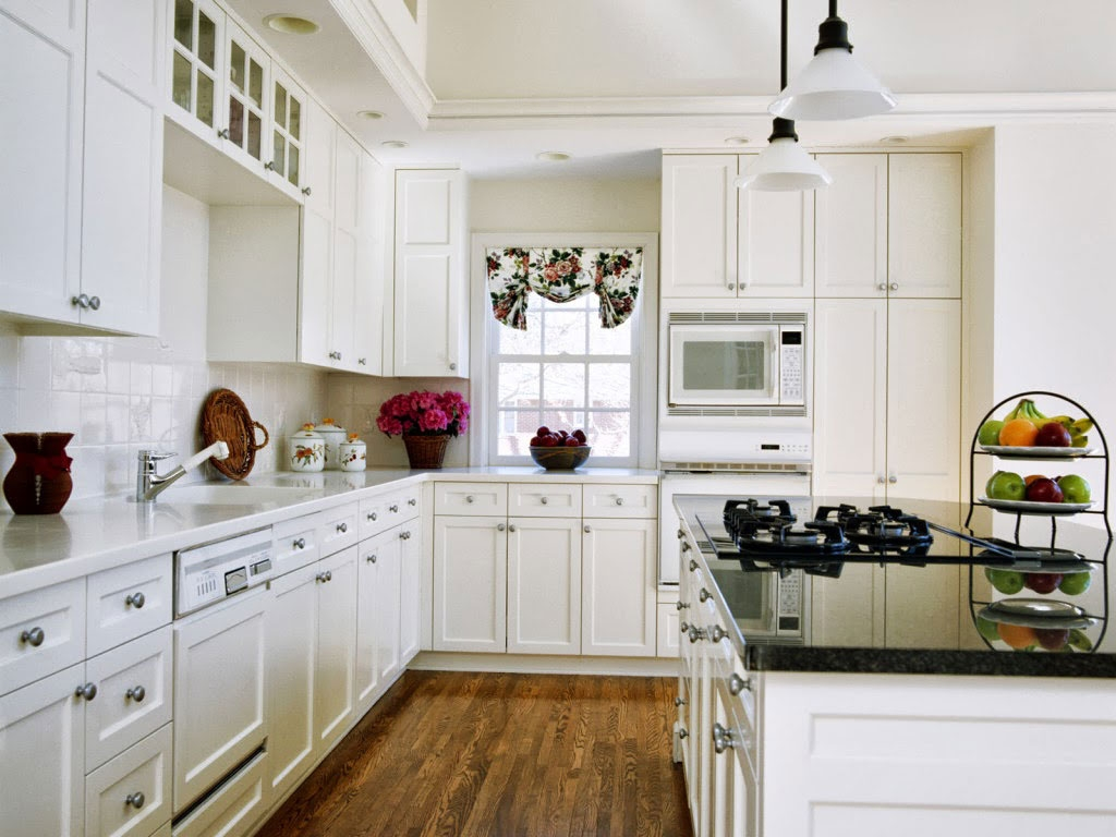 Colorful Kitchen White Cabinets