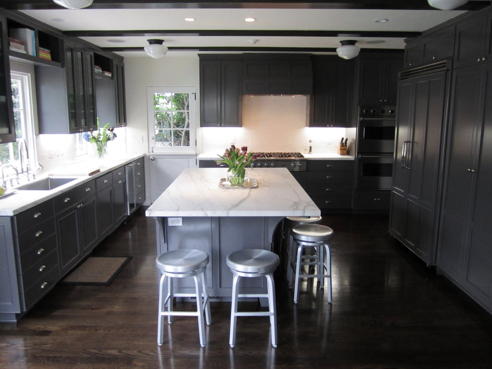 Permalink to Dark Grey Oak Kitchen Cabinets